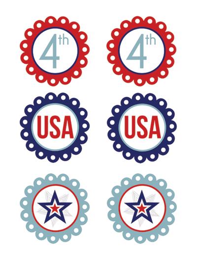 Free Printable Patriotic Cupcake Toppers