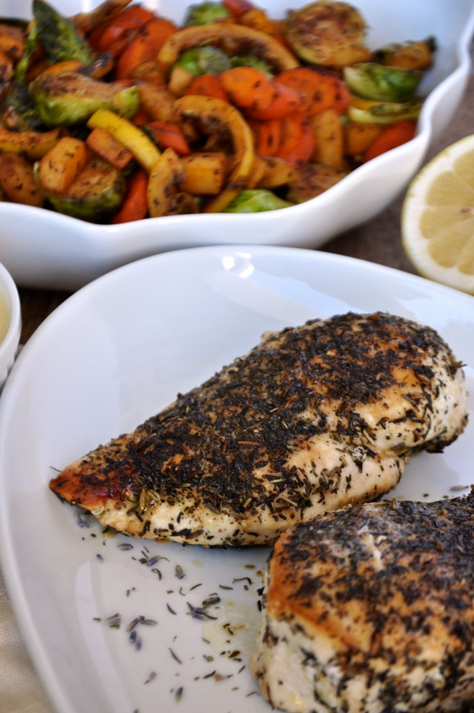 Herbs De Provence Chicken With Lemon Cream Sauce