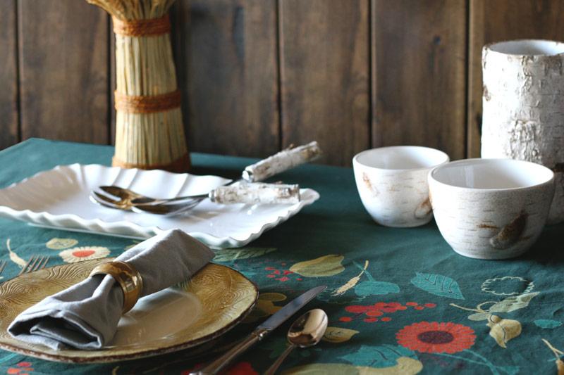 Birch Bowls Thanksgiving Dinner Decor