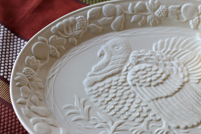 Turkey Platter for Thanksgiving Dining Table Decor
