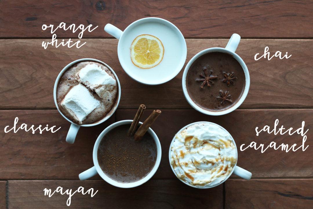 five unique hot chocolate recipes