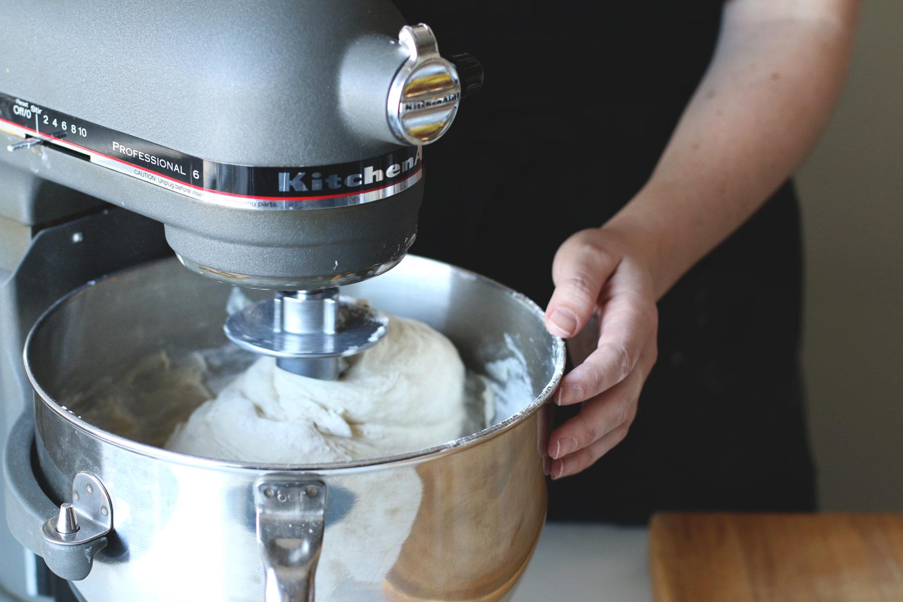 Bread in mixer