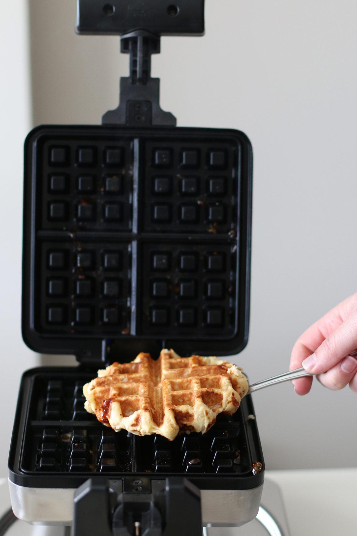 Cooked Belgian Waffle
