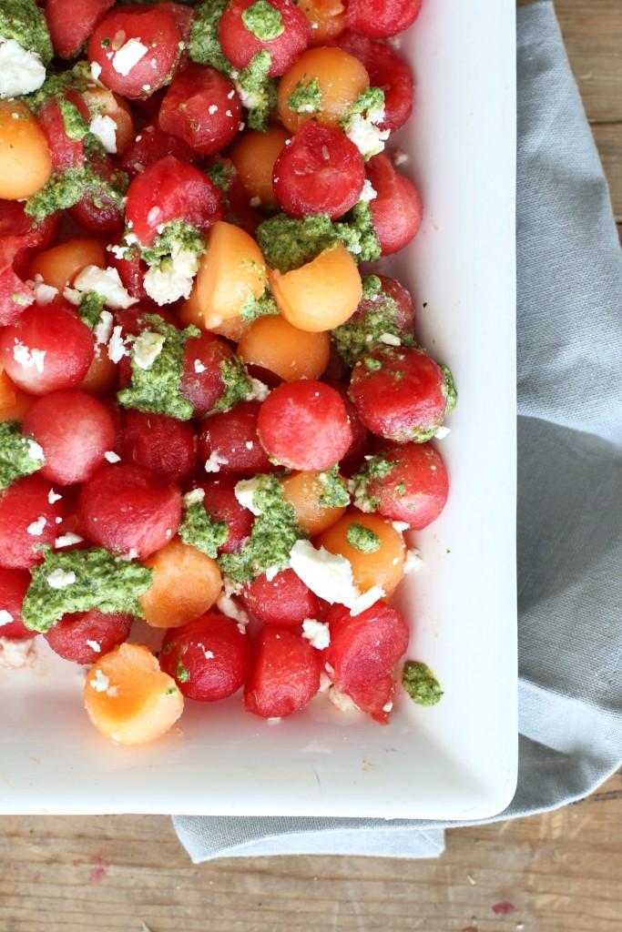 Watermelon Salad with Mint Pesto