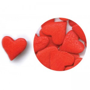 Jumbo Red Heart Confetti Sprinkles - 1/2 Lb